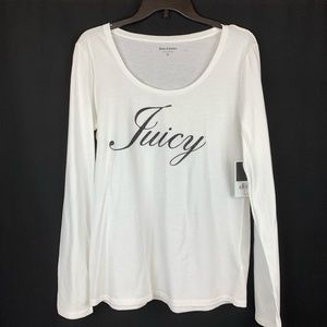 Juicy Couture White Long sleeves Shirt. Size XL.